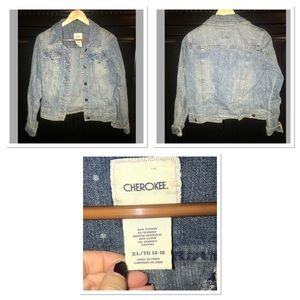 Jean jacket with light dots